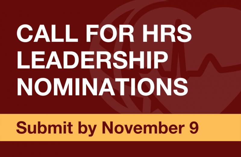 Call for Leadership Nominations 2020