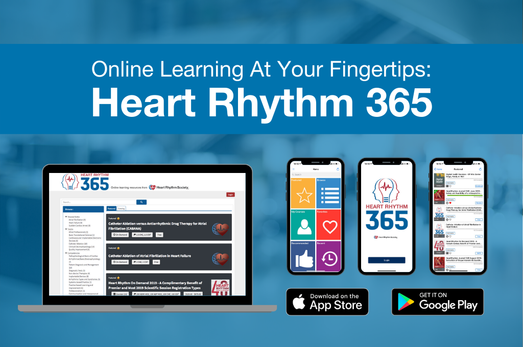 Online Learning at Your Fingertips: Heart Rhythm 365